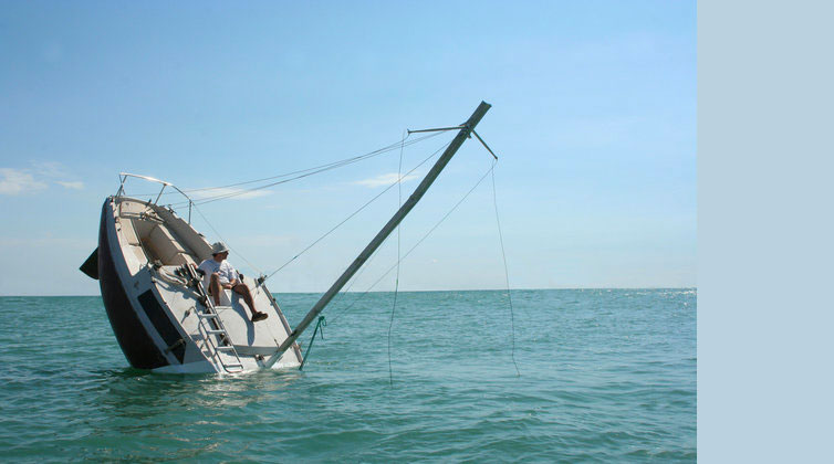 Julien Berthier, Love love, Capsized Boat at Sea