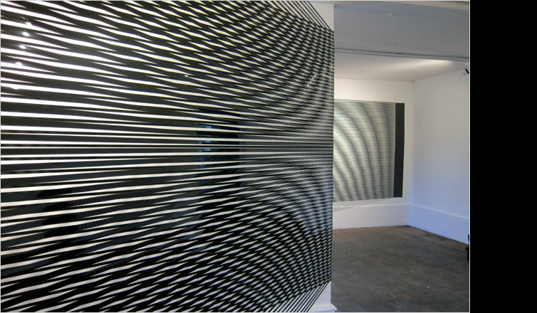 Simple yet large art installation with high contrast and texture.