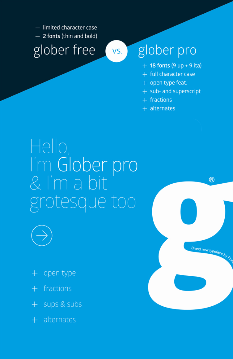 typographic poster large letter g