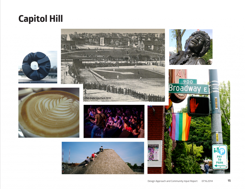 Image collage of capitol hill neighborhood in Seattle Wa