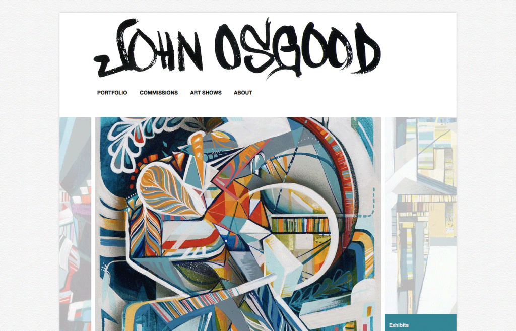 John Osgood's new portfolio website built on WordPress (screenshot)