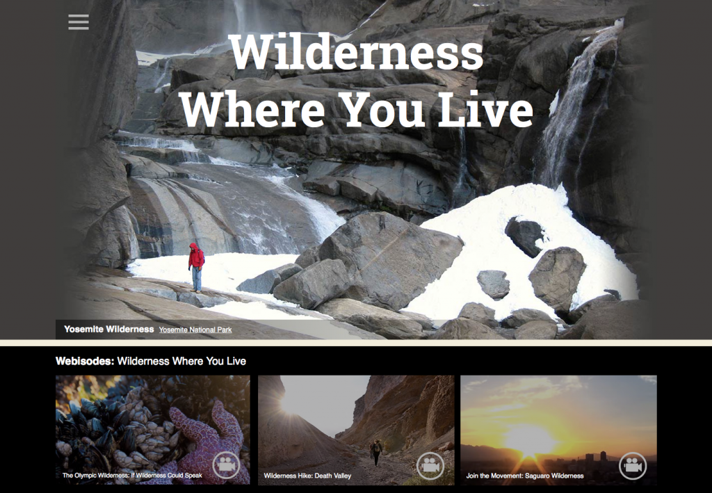 Person exploring the Yosemite Wilderness, in the