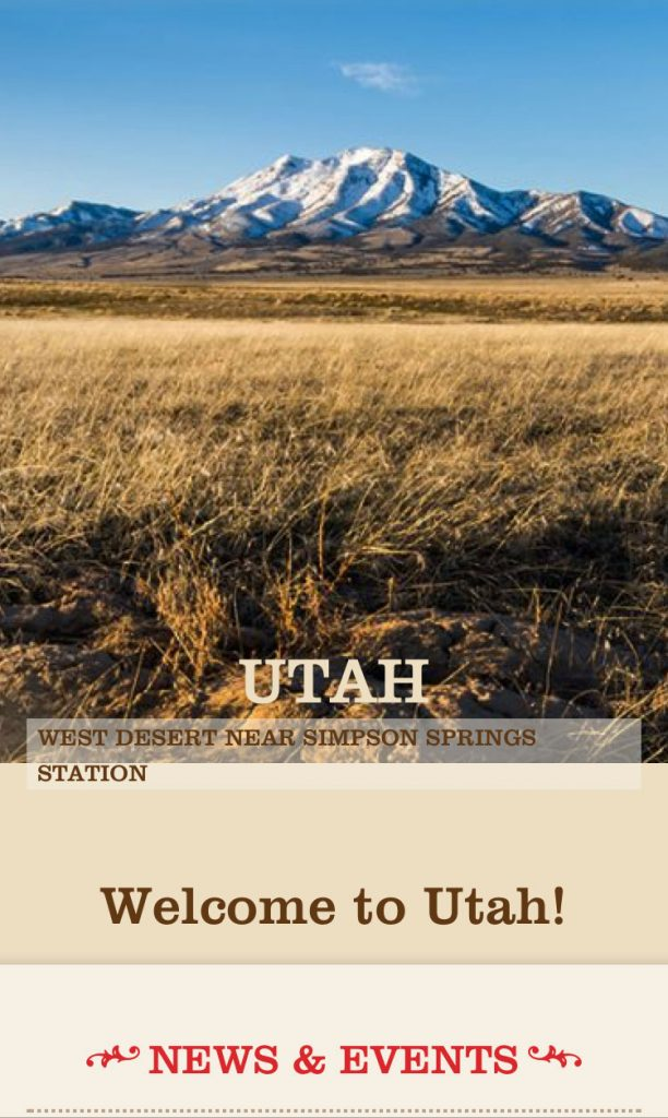 Pony Express Utah phone layout