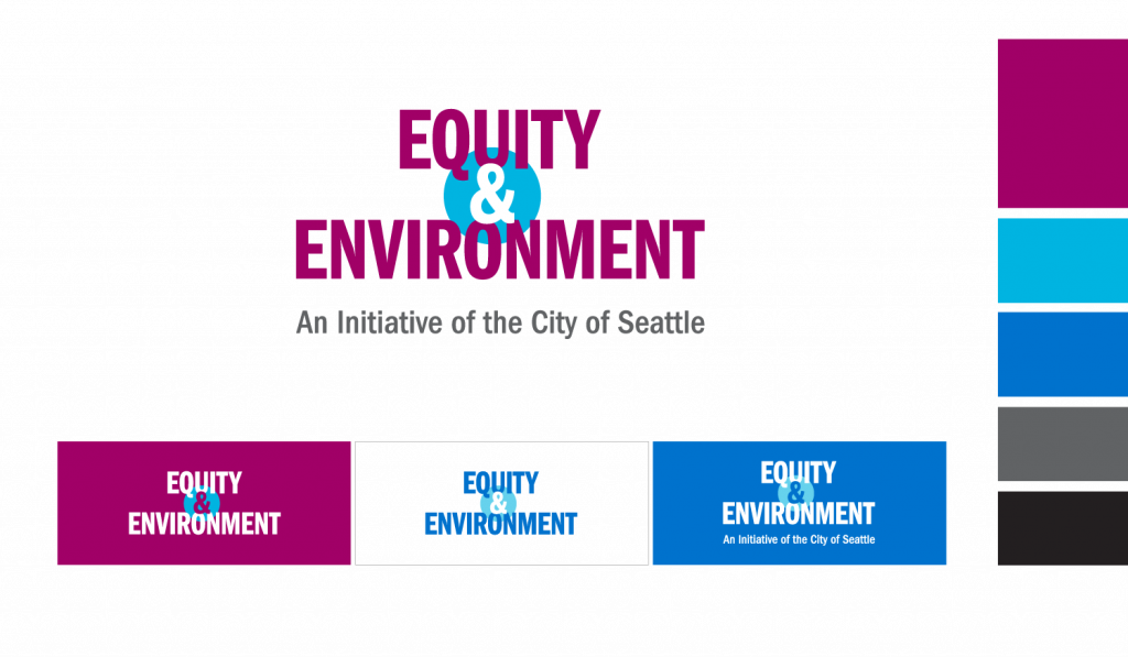 Equity & Environment Logo Design, Color Variations