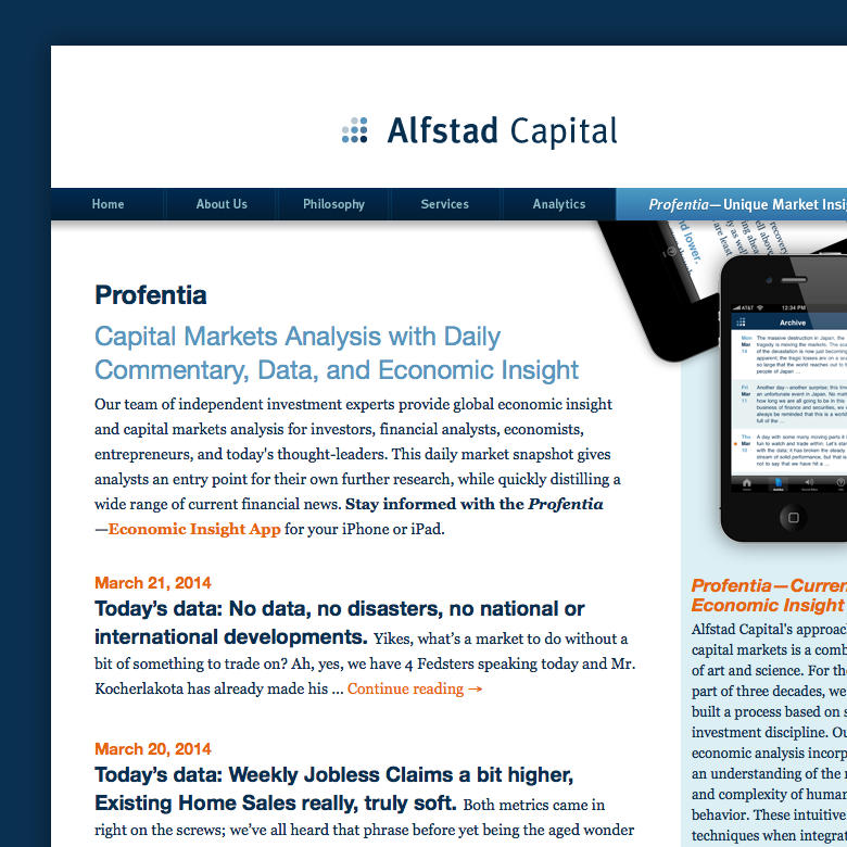 Alfstad Capital | website